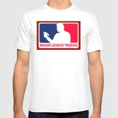 Major League Trekkie Mens Fitted Tee White MEDIUM