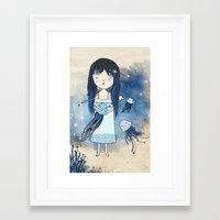 medusa Framed Art Prints featuring Medusa by Kristina Sabaite