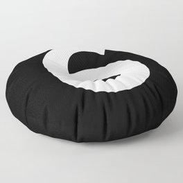 Number 6 (White & Black) Floor Pillow
