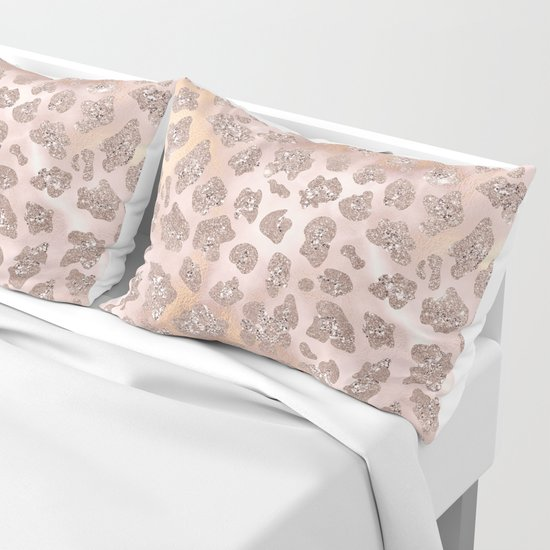 Rosegold Blush Leopard Glitter   by betterhome