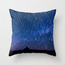 Star Shower over Mt Beerwah Throw Pillow