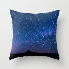 Star Shower over Mt Beerwah Throw Pillow