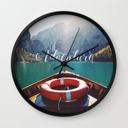 Live the Adventure - Typography Wall Clock