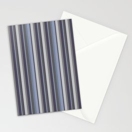 Parisienne Stripes in Periwinkle Stationery Cards