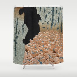 the mold eaters (cropped 2) Shower Curtain