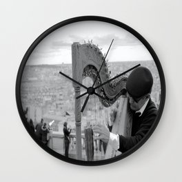 His Music Floats Down to Paris Wall Clock