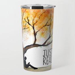 Just read Tree Theme Travel Mug