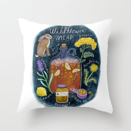 Wildflower Mead Throw Pillow
