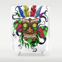 Face in Colors Shower Curtain