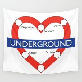 Love Underground Wall Tapestry