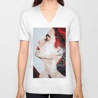 grace V-neck T-shirts featuring Grace by Anna McKay