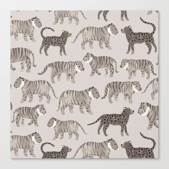 Gray Tigers Canvas Print