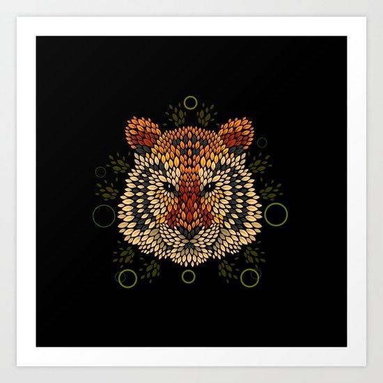 Tiger Face Art Print