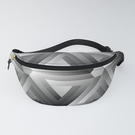 Monochrome penrose triangles Fanny Pack