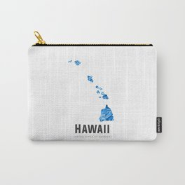 Hawaii - State Map Art - Abstract Map - Blue Carry-All Pouch