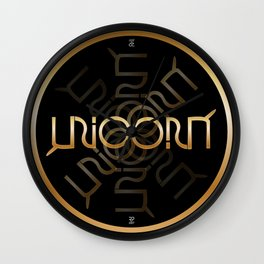 """UNICORN"" Invertible word design Wall Clock"