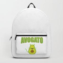Avogato Funny Spanish Cat for Avocado Lover Backpack