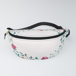 Spring Roses Wreath Pink Blush Fanny Pack