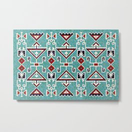 Native American Indians Navajo Pattern Metal Print
