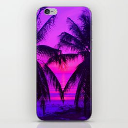 Pink Palm Trees by the Indian Ocean iPhone Skin