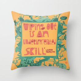 Wiping Out Throw Pillow