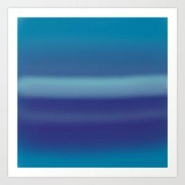 Blurred blue Art Print