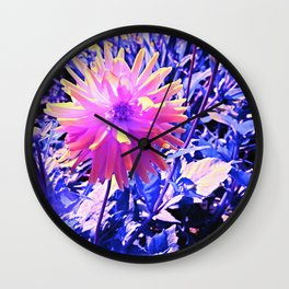 August Dahlia in Pink Wall Clock
