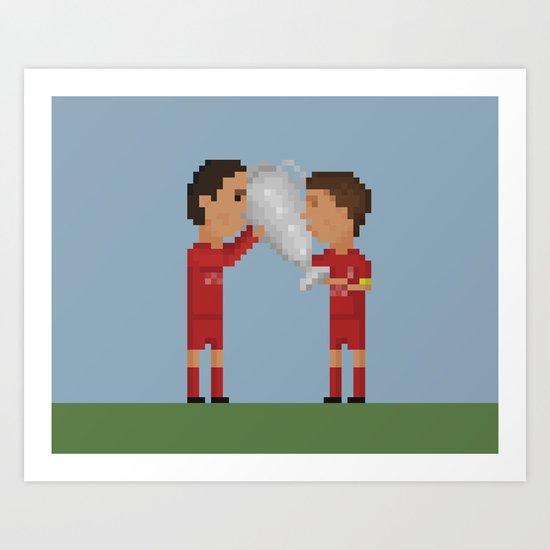 Liverpool Champions Art Print