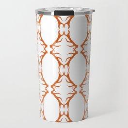 Modern Antler: Orange Travel Mug