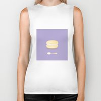 macaroon Biker Tanks featuring Tea time by Henry Chang