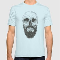 The beard is not dead Light Blue Mens Fitted Tee X-LARGE