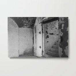 Black and White Staircase Metal Print