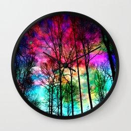 Colorful sky Wall Clock