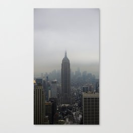Grey Clouds over New York City Canvas Print