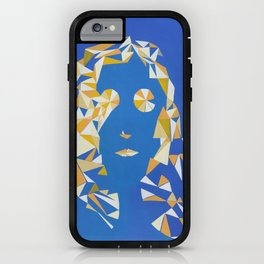 """ The girl with kaleidoscope eyes "" / Acrylic on canvas. iPhone Case"