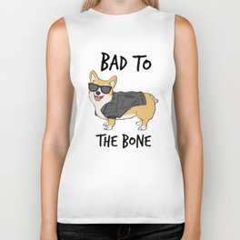Bad to the Bone Corgi Biker Tank