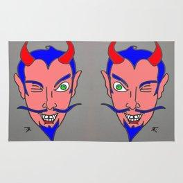 WINK WINK-DEVIL HEADS Rug