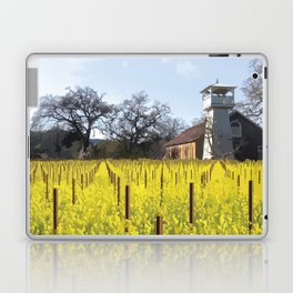 Water Tower & Mustard - Napa Valley - St. Helena District Laptop & iPad Skin
