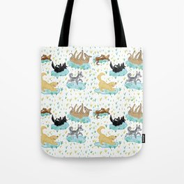 Puppies and Puddles Tote Bag