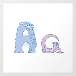 A Uppercase/Lowercase Pair, no border Art Print