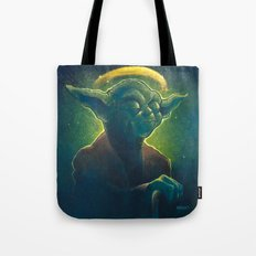 The Contemplation of Saint Yoda Tote Bag