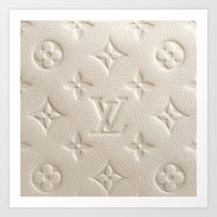 lv Art Prints featuring LV Cream by Beauti Asylum