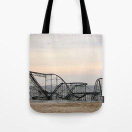 Jet Star Roller Coaster in Ocean After Hurricane Sandy Tote Bag