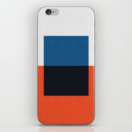 Blue and red composition XXI iPhone Skin