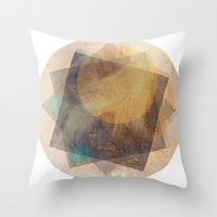 moon phase Throw Pillows featuring It's Just  A Phase by Anai Greog
