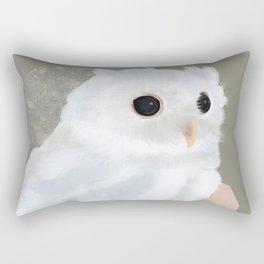 White Owl and Geometry Rectangular Pillow