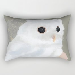 White Owl and Geometry Rectangular Pillow