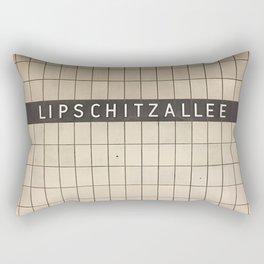 Berlin U-Bahn Memories - Lipschitzallee Rectangular Pillow