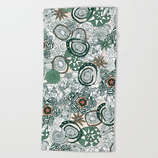 succulents limited Beach Towel
