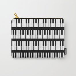 Black And White Piano Keys Pattern Carry-All Pouch